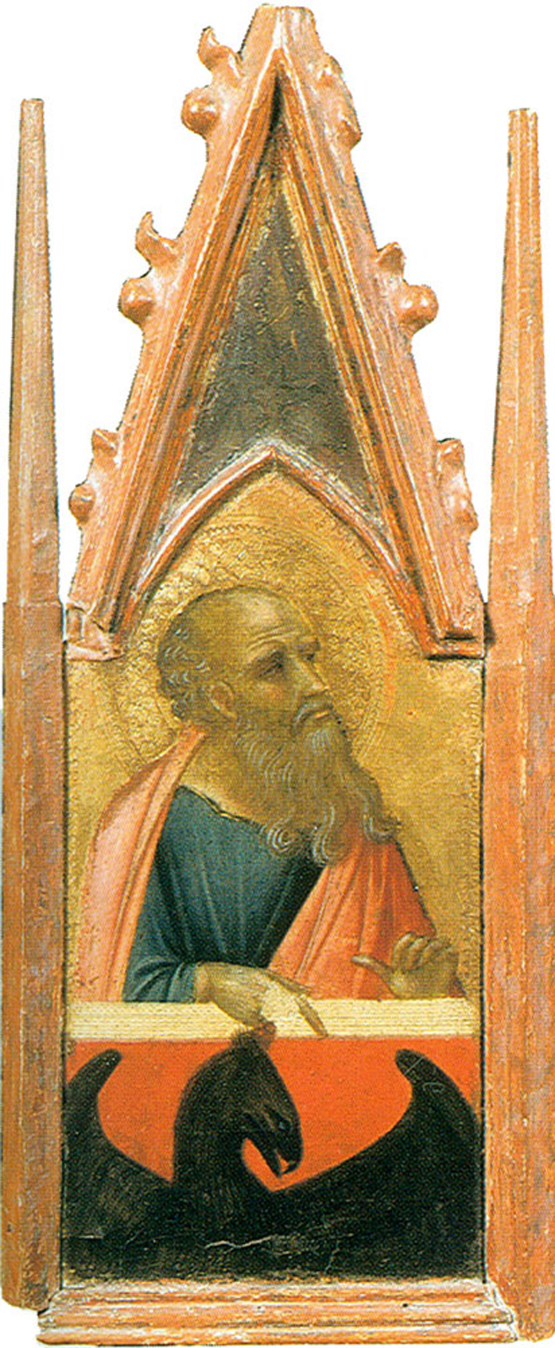 Pietro Lorenzetti (c. 1280 - 1348)  Saint John the Evangelist  Gold and tempera on panel, 1316  Galleria degli Uffizi, Florence, Italy